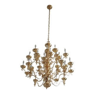Transitional Gold Chandelier