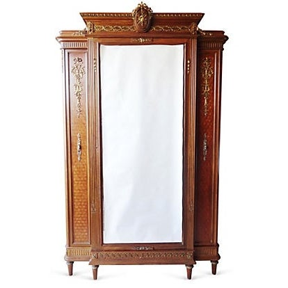 francois linke louis xvi armoire headboard chairish. Black Bedroom Furniture Sets. Home Design Ideas