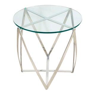 John Vesey Aluminum Spool Lamp Table