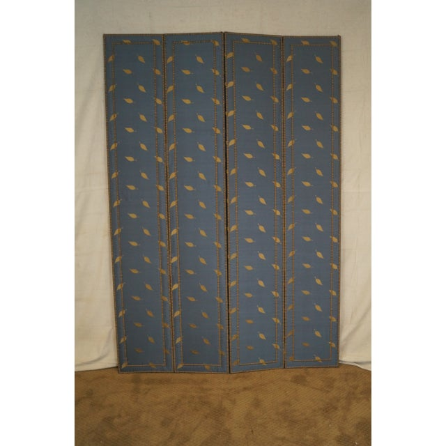 Quality Upholstered Tall Folding Screen - Image 3 of 10