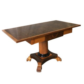 Danish Biedermeier Style Birchwood Drop-leaf Table