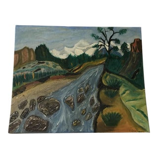 Expressionist Landscape in the Style of Edvard Munch
