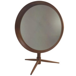 Danish Teak Tabletop Mirror