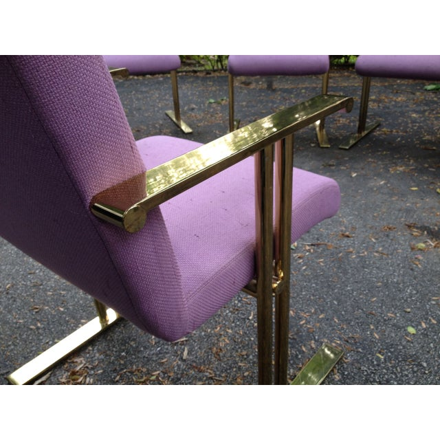 Image of Rare Brass Arm Chair by Directional