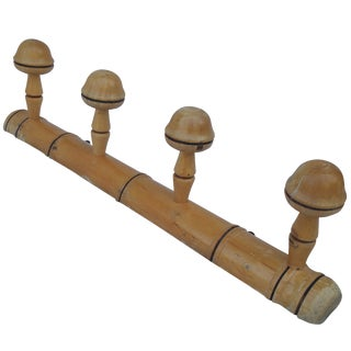 French Faux Bamboo Coat Rack