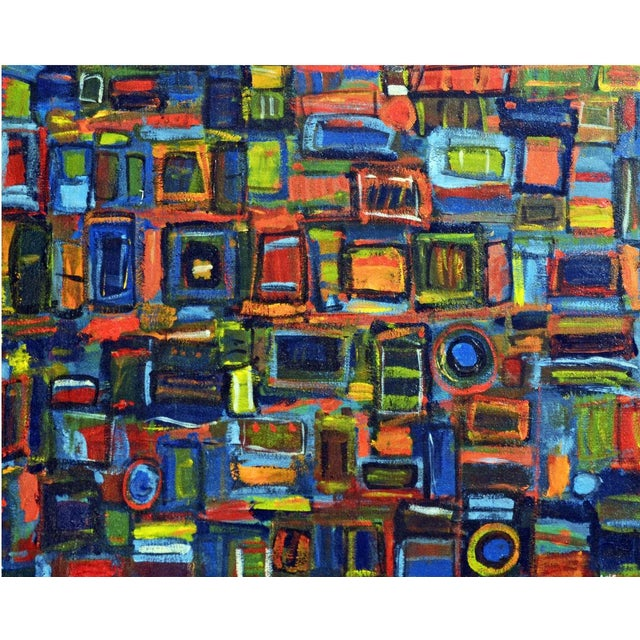 "Image of Abstract Painting ""Times Squared"" by Susie Kate"