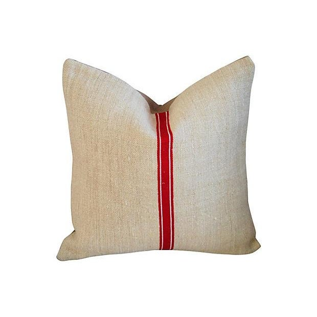 Red Stripe Textile & Linen Pillows - Set of 3 - Image 2 of 7