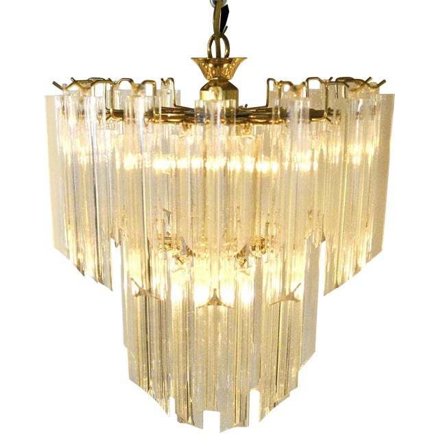 Lucite Waterfall Chandelier - Image 1 of 7
