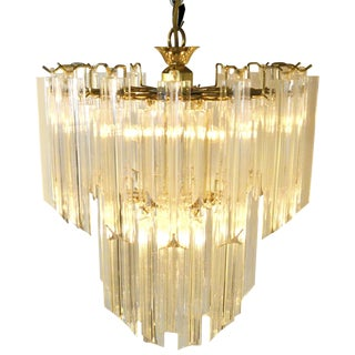 Lucite Waterfall Chandelier