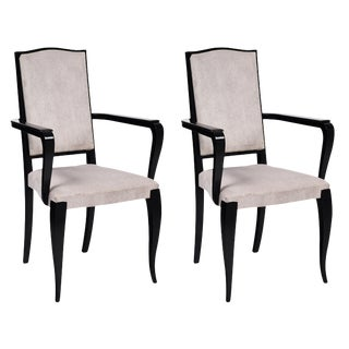 Pair Of Art Deco French Bridge Armchairs