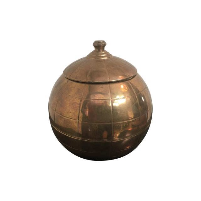Vintage Brass Globe Cigarette Dispenser - Image 1 of 7