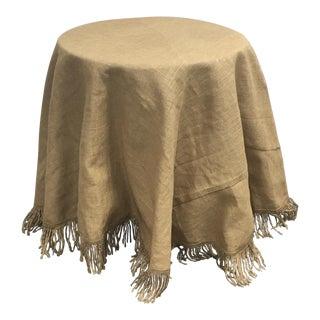 Ballards Burlap Cover Table