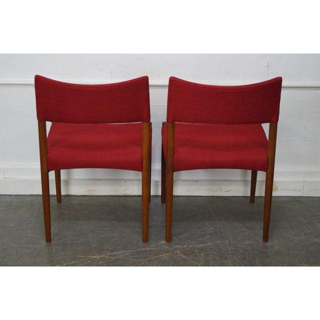Vintage Danish Modern Teak Dining Chairs - Set of 8 - Image 5 of 11
