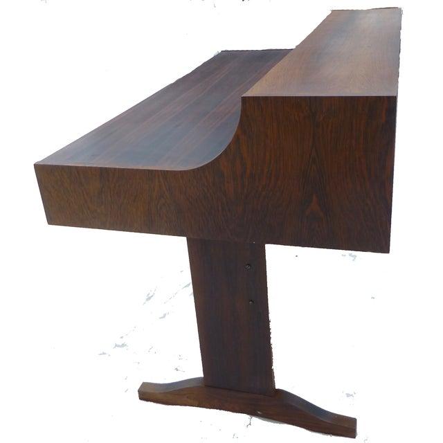 Midcentury Danish Modern Rosewood Desk - Image 8 of 11
