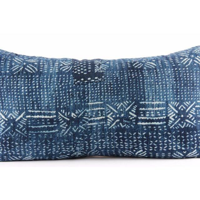 Botanical Blue Mudcloth Pillow - Image 2 of 4
