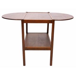 Drop Leaf Side Table With Lower Shelf