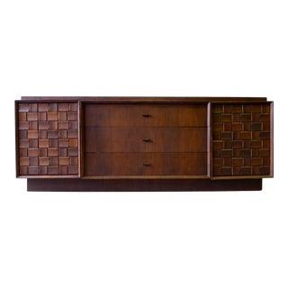 Mid-Century Modern Brutalist Credenza Dresser