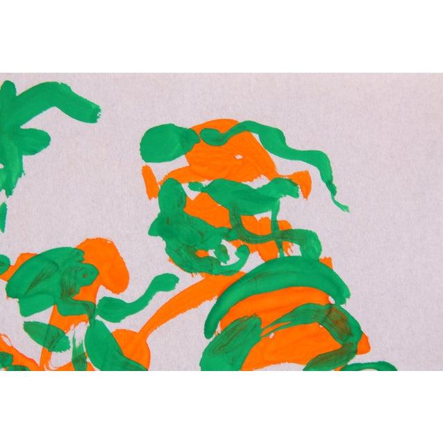 "Phillip Callahan ""Green & Orange"" Painting - Image 2 of 3"
