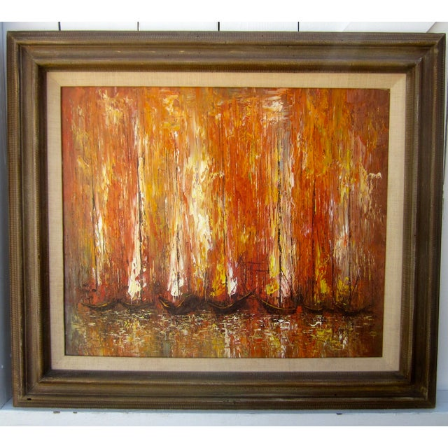 Modernist Abstract Painting - Cityscape/Waterscape - Image 3 of 11