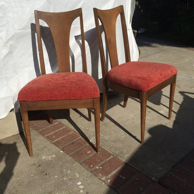 mid century danish style dining chairs a pair chairish