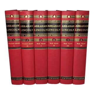 Vintage History Books About Abraham Lincoln - Set of 6