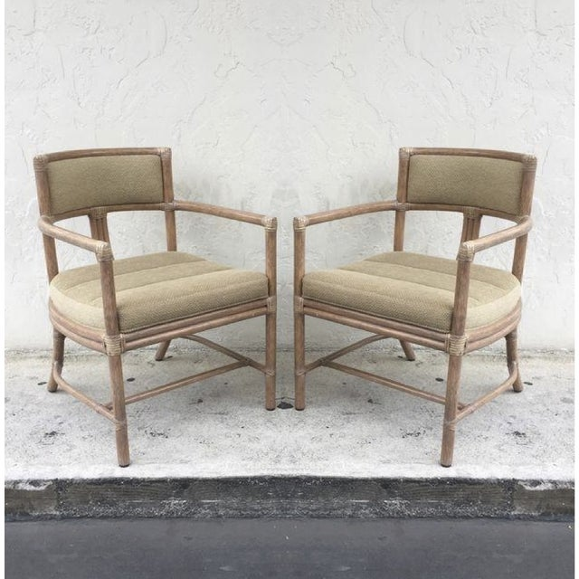 McGuire Manhattan Chairs - Set of 4 - Image 2 of 10
