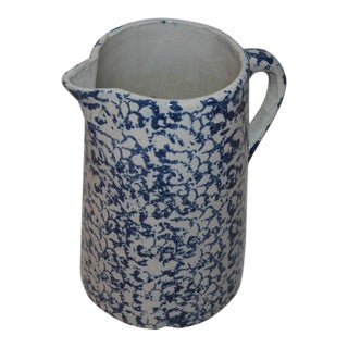 19th Century Spongeware Water Pitcher