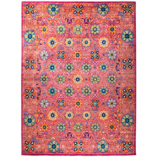 "Suzani Hand Knotted Area Rug - 9'2"" X 12'5"""
