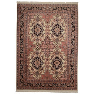 RugsinDallas Hand Knotted Wool Romanian Rug - 10′ × 14′