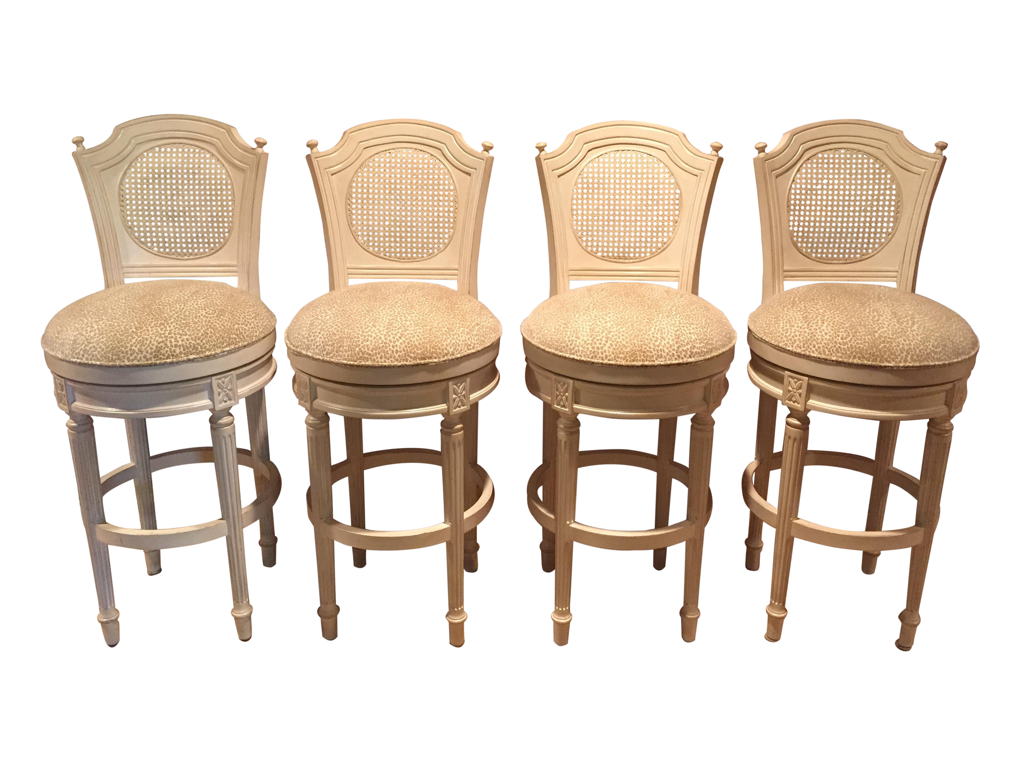 French Country Style Swivel Bar Stools 4 Chairish