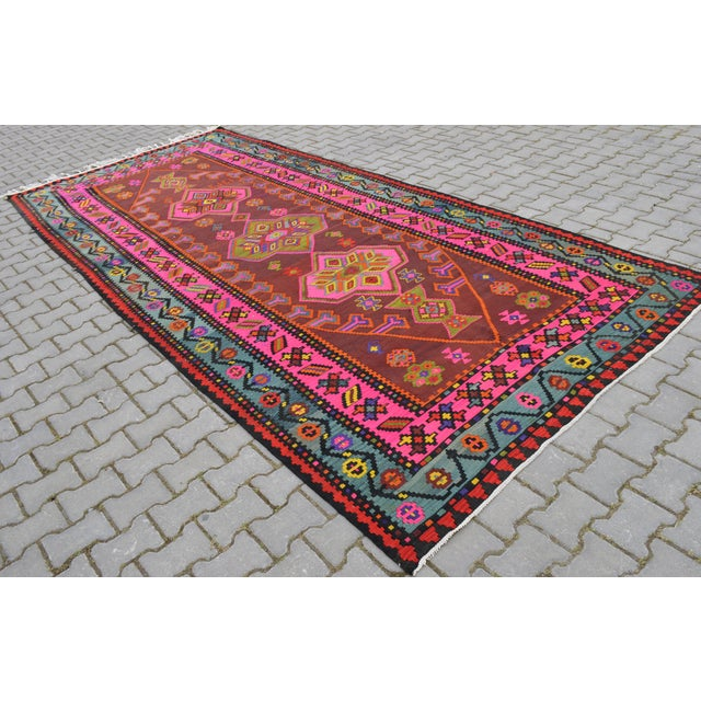 Anatolia Turkish Kilim Rug - 6′6″ × 14′2″ - Image 4 of 10