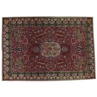 "Vintage Persian Tabriz Rug- 7'7"" x 10'10"""