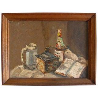 Vintage European Coffee Mill Painting