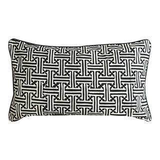 Black Javanese Batik Pillow Cover