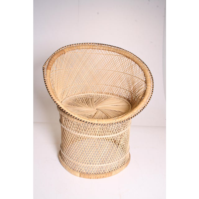 Vintage Boho Chic Wicker Pod Chair - Image 8 of 11