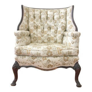 Victorian Tufted Wingback Club Chair