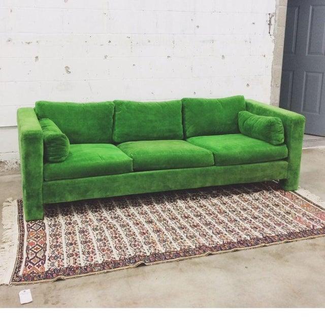 Milo Baughman Thayer Coggin Stunning Green Sofa - Image 3 of 5