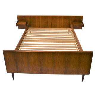 Mid-century Danish Teak Full Size Bed