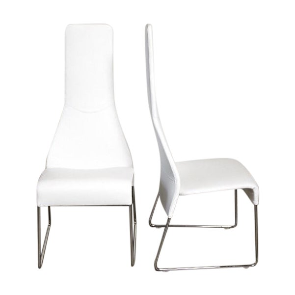 Image of B&B Italia Lazy 05 High Back Dining Chairs - Pair