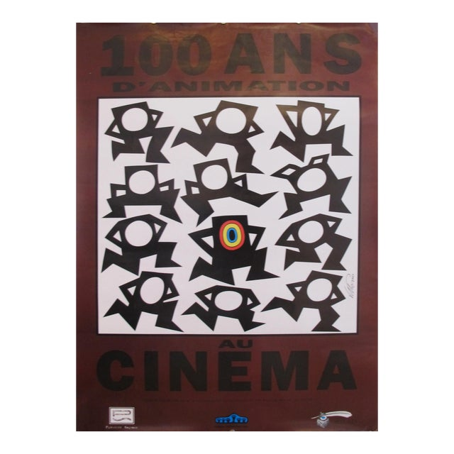 Contemporary Vittorio Poster, 100 Ans D'Animation au Cinema (100 Years of Animation at the Cinema) - Image 1 of 6