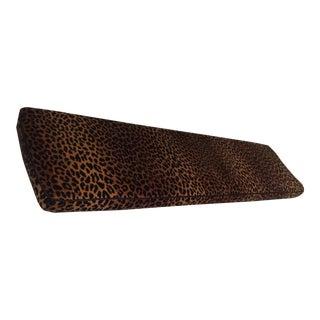Clarence House Kalahari Graphite Leopard Window Seat Cushion