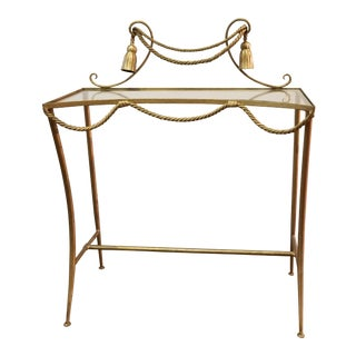 Italian Rope and Tassel Gilt Console Table