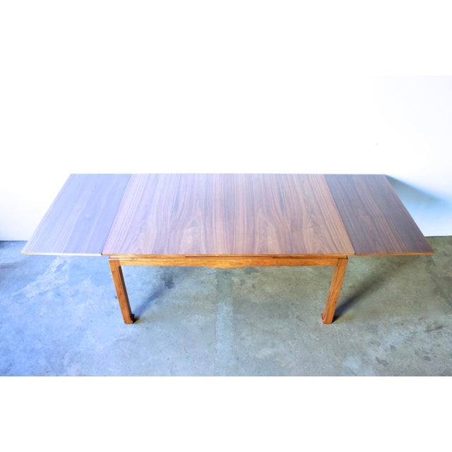 Image of Mid-Century Asian Inspired Walnut Dining Table