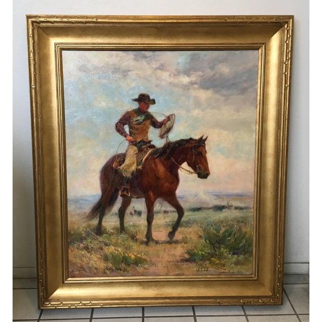 """Montana Artist Joyce Lee """"Practice Loop"""" Original Painting - Image 2 of 9"""