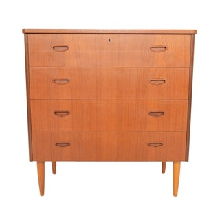 Swedish Modern Four Drawer Teak Gentleman's Chest