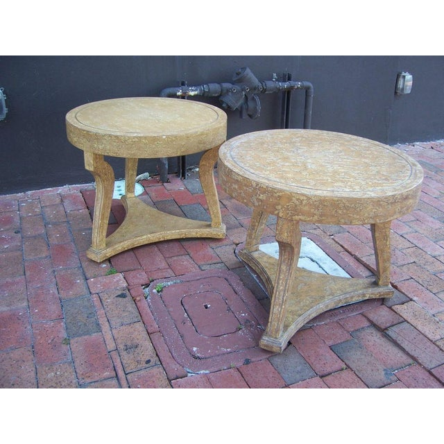 Pair of Round Gueridon Side Tables - Image 6 of 7
