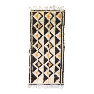 Vintage Moroccan Azilal Rug - 3′ × 6′8″