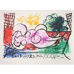 "Image of Pablo Picasso ""Femme Endormie"" Lithograph"