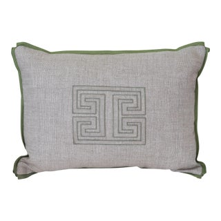 Custom Green & Tan Pillow