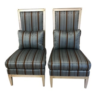 Henredon Upholstery Group High Back Chairs - A Pair